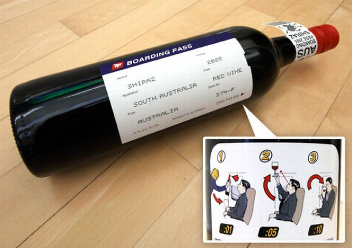 Bouteille vin design 1