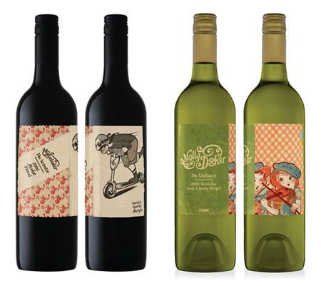 Bouteille vin design 33