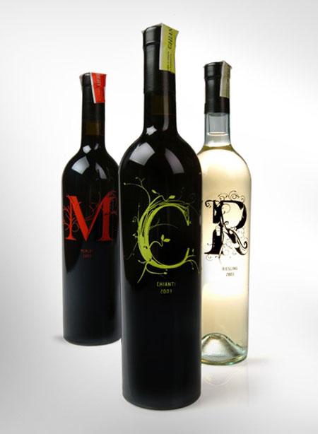 Bouteille vin design 39