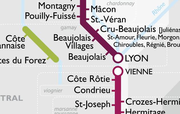 Détails plan métro vin