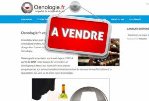 vente site internet oenologie vin